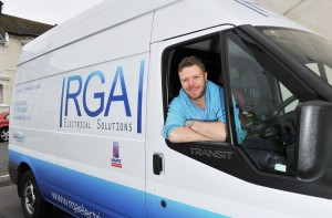 Robbie Allen of RGA Electrical Solutions Photograph taken by Simon Dack